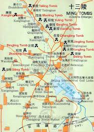 map to ming tombs beijing thirteen tombs of ming dynasty