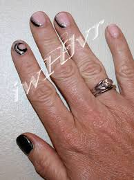 iwhlvr nail art party fancy manicure for short nails black