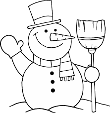 6 images of free printable christmas snowman coloring pages for