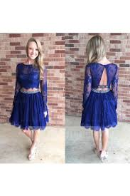 knee length two piece prom dresses