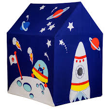 large outer space and rocket play tent by kiddiewinkles