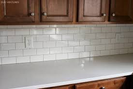 Gray Backsplash Kitchen Duo Ventures Kitchen Update Grouting U0026 Caulking Subway Tile