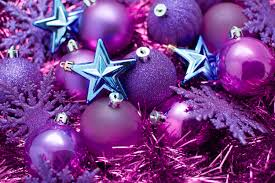 pcs christmas tree decor purple ball bouble with beautiful box