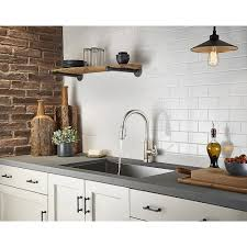 stainless steel kitchen faucet stainless steel breckenridge pull kitchen faucet f 529