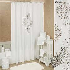 White Shower Curtain Opulent White Cutout Shower Curtain