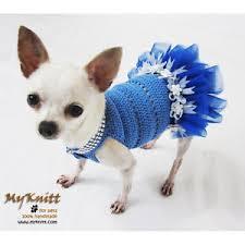 Dog Wedding Dress Blue Dog Tutu Dress Pet Wedding Dress Cute Flower Handmade