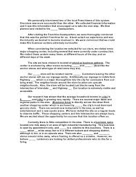 business plan template for subway franchise templates resume
