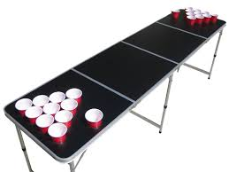 how long is a beer pong table the pong squad blank beer pong table with holes pong games amazon