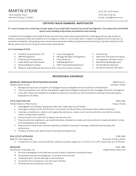 Sample Resume For Law Enforcement by Martin Straw Cfe Certified Fraud Examiner Resume