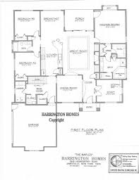 naples floor plan harrington homes naples