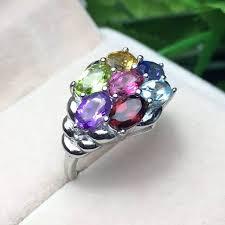 rings with amethyst images Red trees jewelry multi colors gemstone amethyst topaz garnet jpg