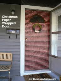 christmas door wrapping paper diy christmas paper wrapped front door house design