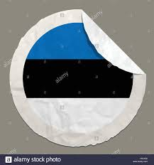 Estonian Flag Estonian Flag With Symbol