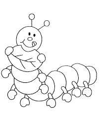 caterpillar insects coloring pages for kids to print u0026 color