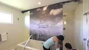 self adhesive wall mural installation short version youtube self adhesive wall mural installation short version