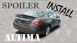 nissan altima coupe with spoiler 2014 nissan altima s diy spoiler installation with integrated