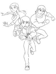 animations a 2 z coloring pages of ben 10