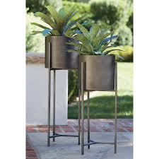 dundee floor planter with tall stand crate and barrel