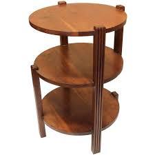 round walnut side table vintage 1930s art deco three tier round walnut side end table at 1stdibs