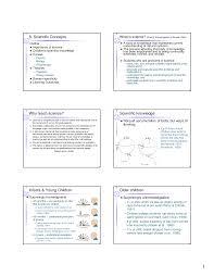 developmental cognition scientific concepts lecture notes