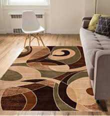 Green And Brown Area Rugs Feraghan New City Hil1030 Contemporary Modern Wavy