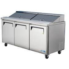 Refrigerated Prep Table by Air Mst 72 3 Door Refrigerated Food Prep Table