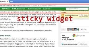 Sticky Top Bar How To Make Any Widget Sticky