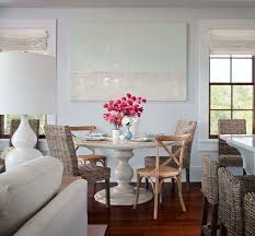 Dining Room Wall Paint Blue Love Summer House Id Beachy Dining Room Design With Pale Blue