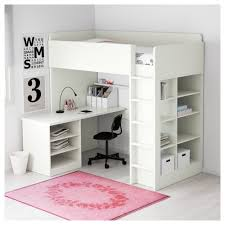 twin metal loft bed with desk and shelving fundamentals loft bed and desk stuva combo w 2 shlvs 3 white