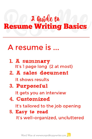Resume Tips Resume Tips Resume by Basics About Writing Resumes