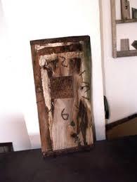 rustic reclaimed barn wood rusty metal rusty nail clock rusty