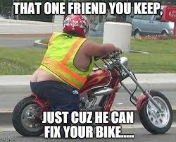 Bike Crash Meme - that one friend who can fix your bike