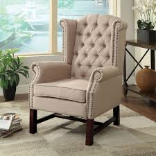 Acme Living Room Furniture by Acme Furniture Manly Accent Chair In Beige Ffabric Local