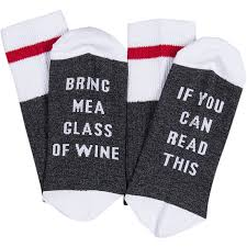 if you can read this bring me a glass of wine socks lavinity