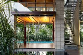 home courtyard courtyard contemporary home in singapore inspired by the