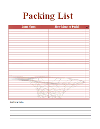 free packing slip template word