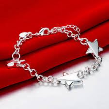 silver bracelet styles images Fashion star pulseras 925 silver bracelet charm bracelets for jpg