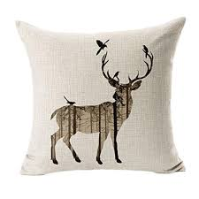 home decor pillows tonwalk simple deer pillow case sofa bed home decor cushion cover