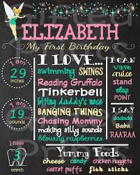 birthday chalkboard birthday chalkboard tinkerbell theme