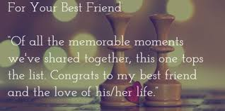 wedding wishes for best friend wedding day messages for every scenario