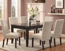 Oak Fabric Dining Chairs Adorable Upholstered Parsons Dining Chairs With Anais Grey Fabric