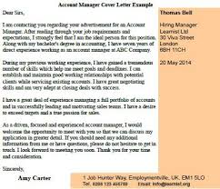account manager cover letter example forums learnist org