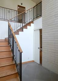 Glass Stair Rail by Interior Balustrade As Well Handrail Hand Railing Glass Wood