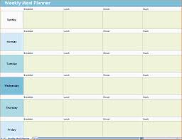 printable meal planner template 4 daily meal planner template ganttchart template screenshot of the weekly meal planner excel template