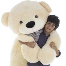 stuffed teddy bears walmart com cozy cuddles 72 inch cream life size huge teddy bear giant teddy