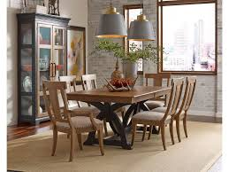 dining room tables chicago kincaid furniture dining room staves trestle dining table 72 056p