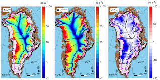 Current Temperature Map Scientists Map Movement Of Greenland Ice During Past 9 000 Years