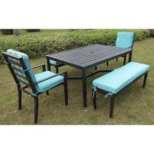 5 patio set mainstays rockview 5 patio dining set black seats 6