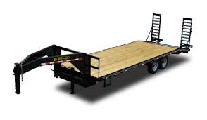 standard 14000 gvwr flatbed gooseneck trailer by kaufman trailers