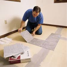 can you put vinyl plank flooring cabinets how to lay a vinyl tile floor this house